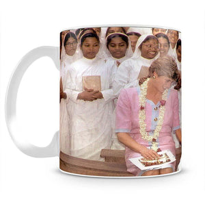 Princes Diana with Mother Theresa in Calcutta India Mug - Canvas Art Rocks - 2