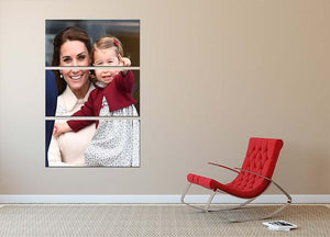 Princess Charlotte held by her mother Kate 3 Split Panel Canvas Print - Canvas Art Rocks - 2
