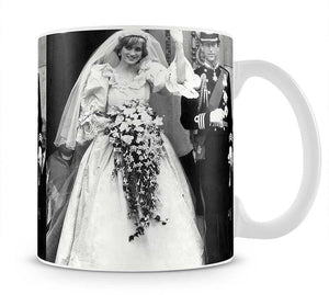 Princess Diana and Prince Charles at their wedding St Pauls Mug - Canvas Art Rocks - 1