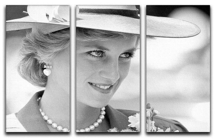 Princess Diana arrives at church in Melbourne Australia 3 Split Panel Canvas Print