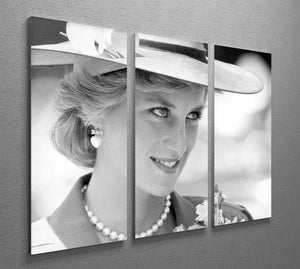 Princess Diana arrives at church in Melbourne Australia 3 Split Panel Canvas Print - Canvas Art Rocks - 2