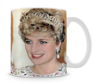 Princess Diana in a tiara at a dinner in Seoul South Korea Mug - Canvas Art Rocks - 1