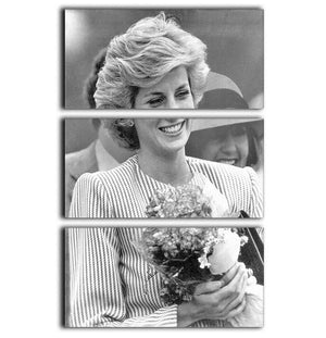 Princess Diana walkabout in Puckapunyal near Melbourne 3 Split Panel Canvas Print - Canvas Art Rocks - 1