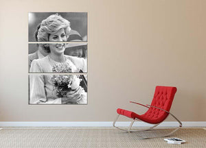 Princess Diana walkabout in Puckapunyal near Melbourne 3 Split Panel Canvas Print - Canvas Art Rocks - 2