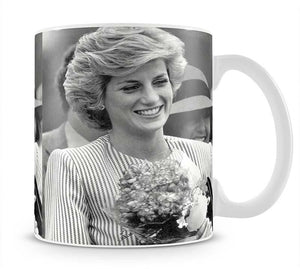Princess Diana walkabout in Puckapunyal near Melbourne Mug - Canvas Art Rocks - 1