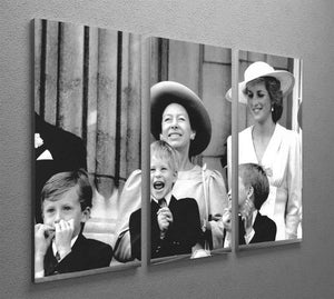 Princess Diana with Prince Harry watching Trooping the Colour 3 Split Panel Canvas Print - Canvas Art Rocks - 2