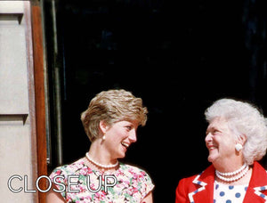 Princess Diana with US First Lady Barbara Bush 3 Split Panel Canvas Print - Canvas Art Rocks - 3