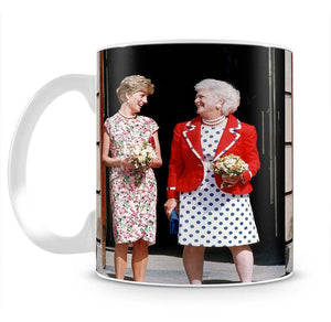 Princess Diana with US First Lady Barbara Bush Mug - Canvas Art Rocks - 2