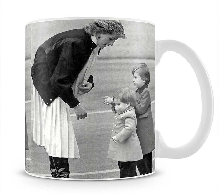 Princess Diana with little Prince Harry and Prince William Mug