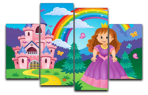 Princess theme image 2 4 Split Panel Canvas  - Canvas Art Rocks - 1