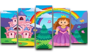 Princess theme image 2 5 Split Panel Canvas  - Canvas Art Rocks - 1