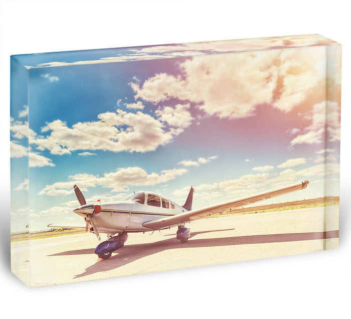 Propeller plane parked Acrylic Block