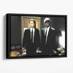 Pulp Fiction Coloured Floating Framed Canvas
