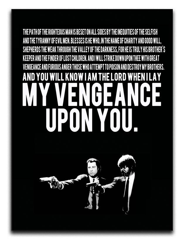 Pulp Fiction Quote Canvas Print or Poster