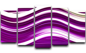 Purple Wave 5 Split Panel Canvas - Canvas Art Rocks - 1