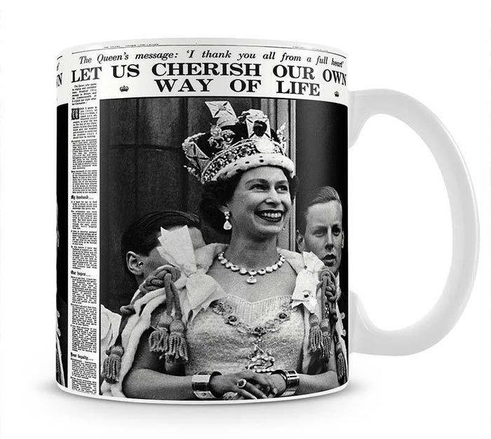 Queen Elizabeth II Coronation Daily Mail front page 3 June 1953 Mug