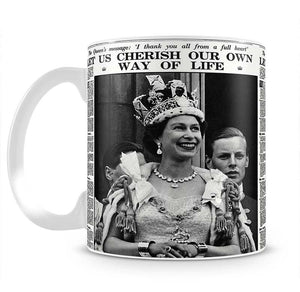 Queen Elizabeth II Coronation Daily Mail front page 3 June 1953 Mug - Canvas Art Rocks - 2