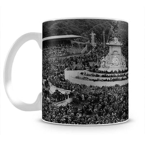 Queen Elizabeth II Coronation crowds at Buckingham Palace Mug - Canvas Art Rocks - 2