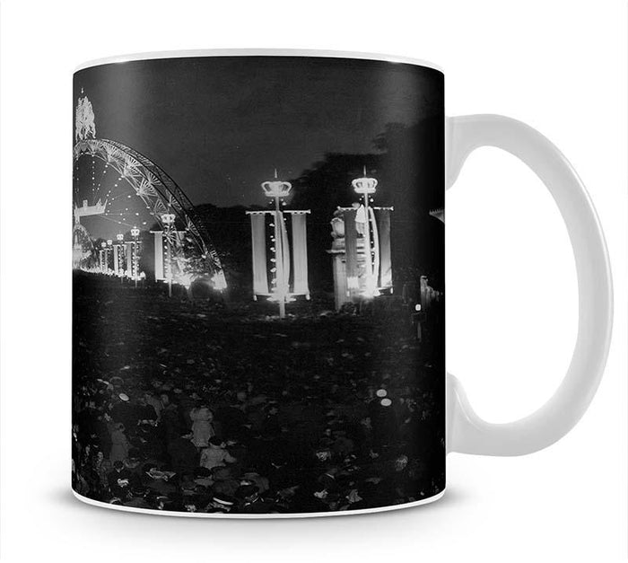 Queen Elizabeth II Coronation floodlit fairy arches Mug