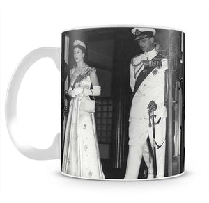 Queen Elizabeth II and Prince Philip during a tour of Nigeria Mug - Canvas Art Rocks - 2