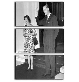 Queen Elizabeth II and Prince Philip hosting a state visit 3 Split Panel Canvas Print - Canvas Art Rocks - 1