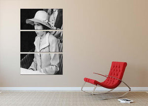 Queen Elizabeth II as a child seated in a hat 3 Split Panel Canvas Print - Canvas Art Rocks - 2
