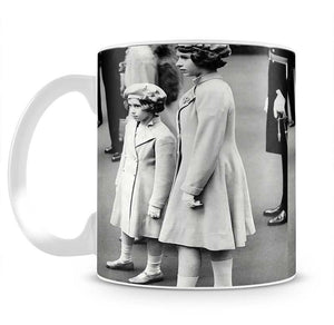 Queen Elizabeth II as a child with her sister in matched outfits Mug - Canvas Art Rocks - 2