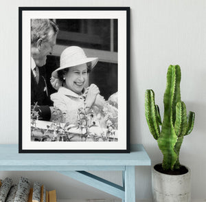 Queen Elizabeth II charmed at the Epsom Derby Framed Print - Canvas Art Rocks - 1