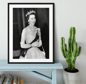 Queen Elizabeth II during her Coronation tour Framed Print - Canvas Art Rocks - 1