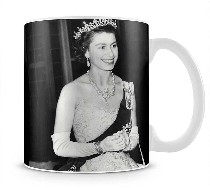 Queen Elizabeth II during her Coronation tour Mug