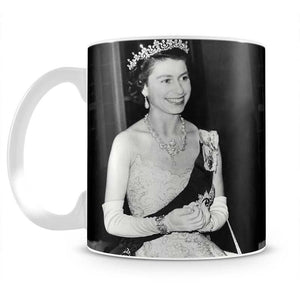 Queen Elizabeth II during her Coronation tour Mug - Canvas Art Rocks - 2