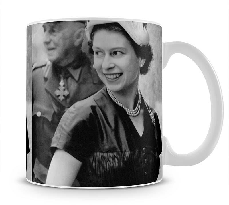 Queen Elizabeth II in Scotland shortly after her coronation Mug - Canvas Art Rocks - 1