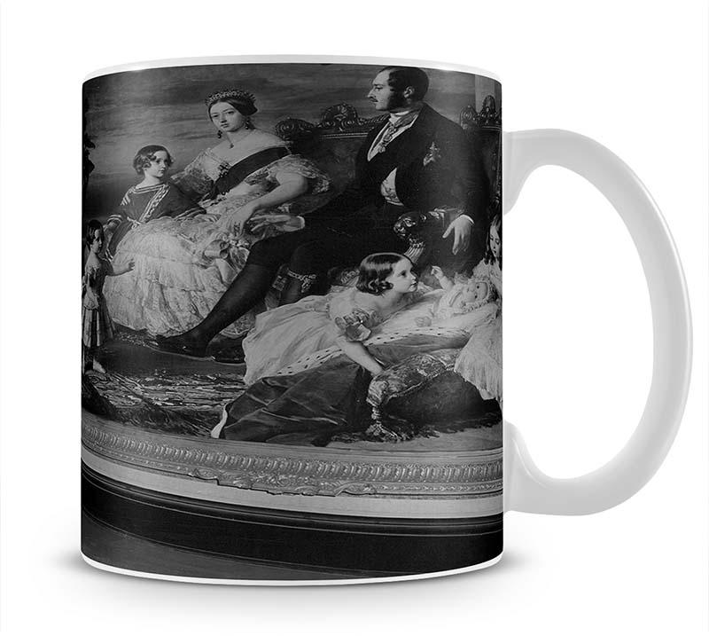Queen Elizabeth II viewing a portrait of Queen Victoria Mug - Canvas Art Rocks - 1
