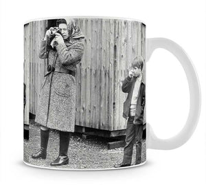 Queen Elizabeth II with a young Prince Edward Mug - Canvas Art Rocks - 1