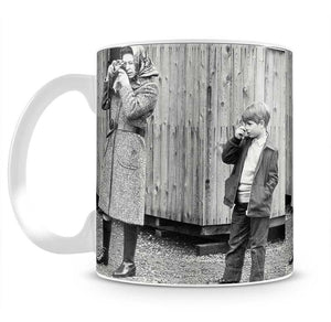 Queen Elizabeth II with a young Prince Edward Mug - Canvas Art Rocks - 2