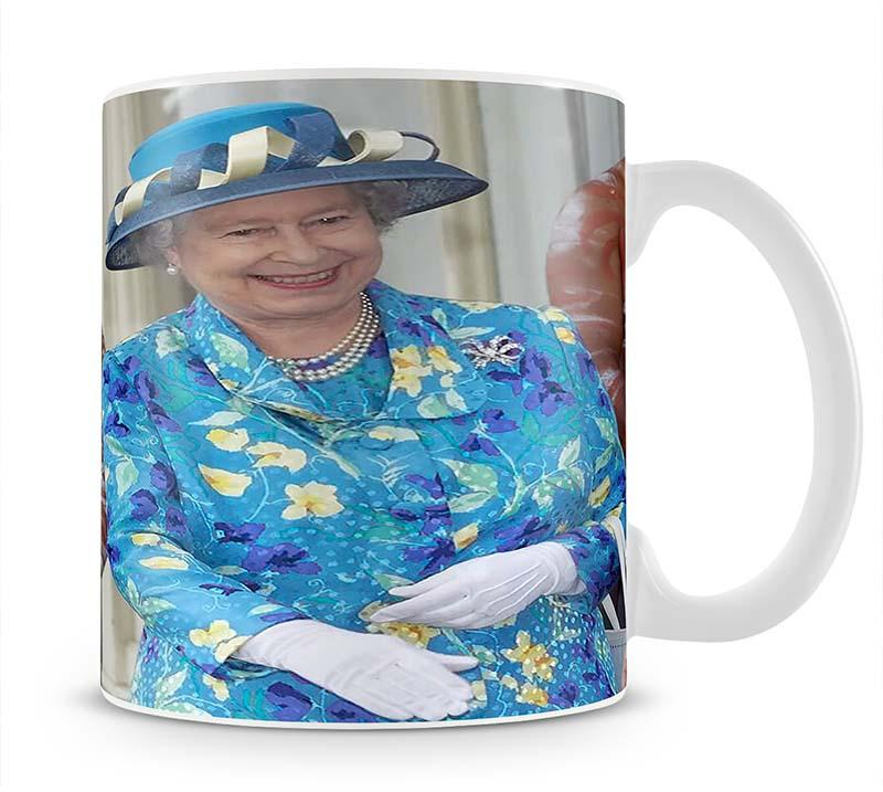 Queen Elizabeth II with an Aboriginal dancer in Australia Mug - Canvas Art Rocks - 1