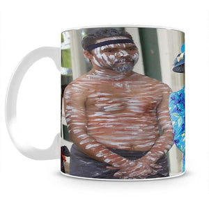 Queen Elizabeth II with an Aboriginal dancer in Australia Mug - Canvas Art Rocks - 2
