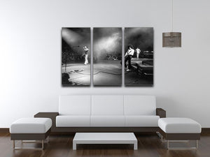 Queen Live 3 Split Panel Canvas Print - Canvas Art Rocks - 3