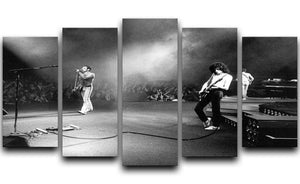 Queen Live 5 Split Panel Canvas  - Canvas Art Rocks - 1