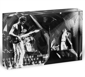 Queen Live On Stage Pop Art Acrylic Block - Canvas Art Rocks - 1