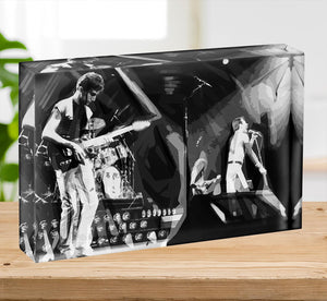 Queen Live On Stage Pop Art Acrylic Block - Canvas Art Rocks - 2