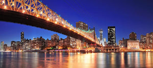 Queensboro Bridge over New York Wall Mural Wallpaper - Canvas Art Rocks - 1
