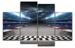 Race Track 4 Split Panel Canvas  - Canvas Art Rocks - 1