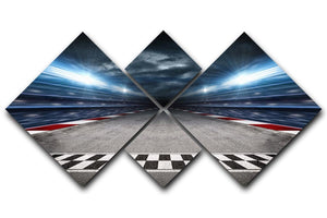 Race Track 4 Square Multi Panel Canvas  - Canvas Art Rocks - 1