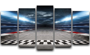 Race Track 5 Split Panel Canvas  - Canvas Art Rocks - 1