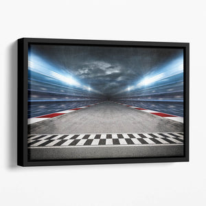 Race Track Floating Framed Canvas
