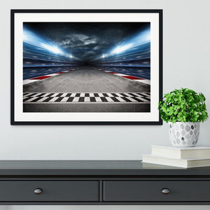 Race Track Framed Print - Canvas Art Rocks - 1