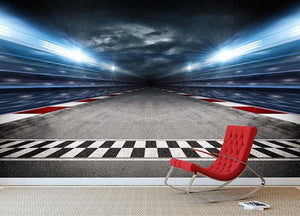Race Track Wall Mural Wallpaper - Canvas Art Rocks - 2
