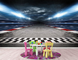 Race Track Wall Mural Wallpaper - Canvas Art Rocks - 3