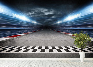 Race Track Wall Mural Wallpaper - Canvas Art Rocks - 4